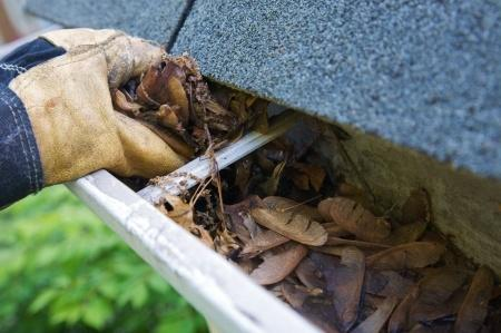 The Easiest Way To Clean Clogged Rain Gutter Downspouts